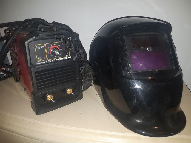 maquina de soldar y mascara