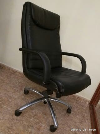 sillón de oficina de cuero
