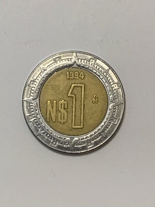 Monedas MEXICO 1 dolar mexicano año 1994