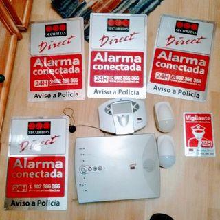 Alarma seguridad directo 10eur/ componente