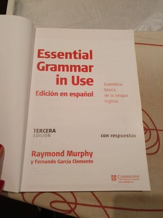 Libro de gramática en inglés