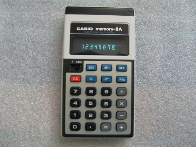 calculadora Casio Memory-8A matematicas
