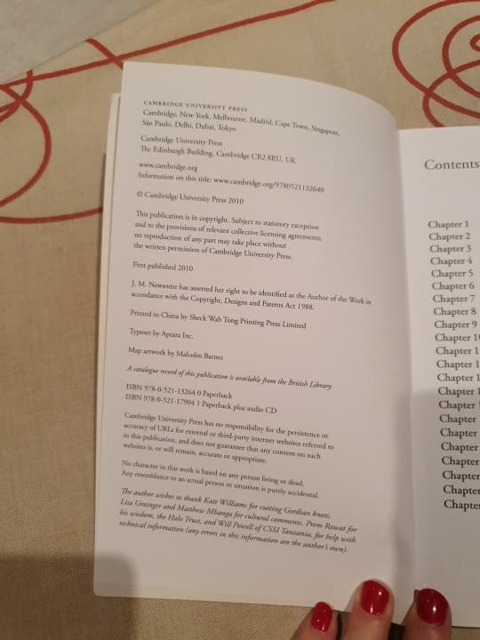Libro lectura de inglés.