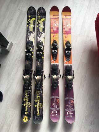Pareja de esquís freestyle 120cm