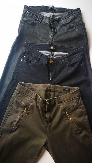 pantalones Tejanos lote zara woman