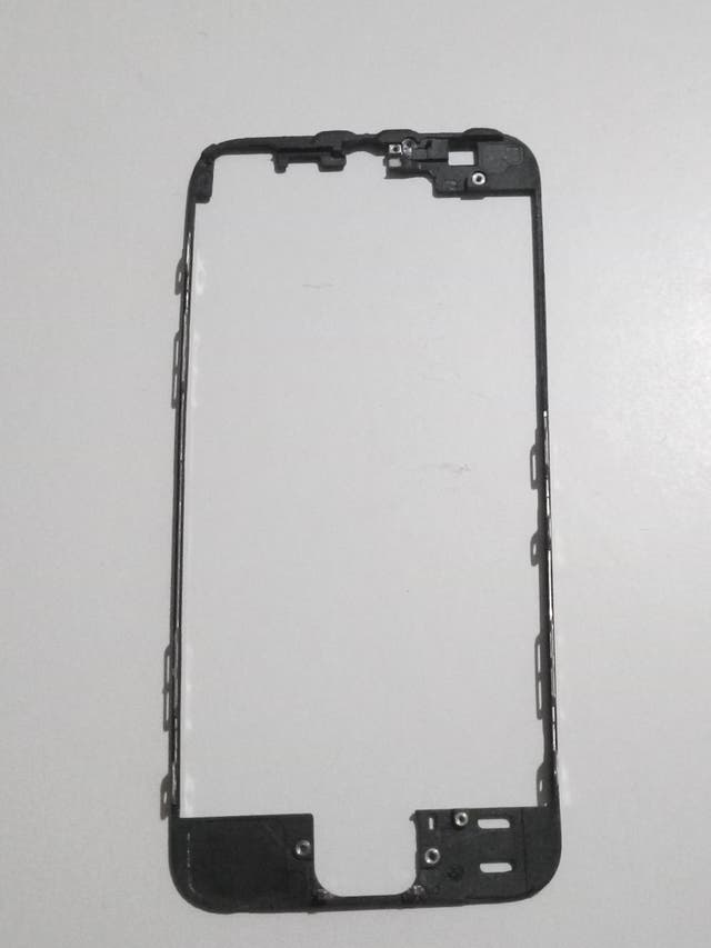 Repuesto Marco frontal IPhone 5 negro