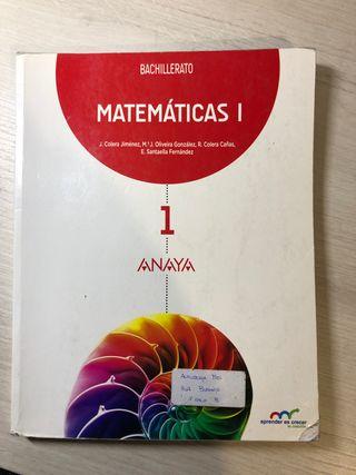 MATEMÁTICAS 1Bachillerato ANAYA