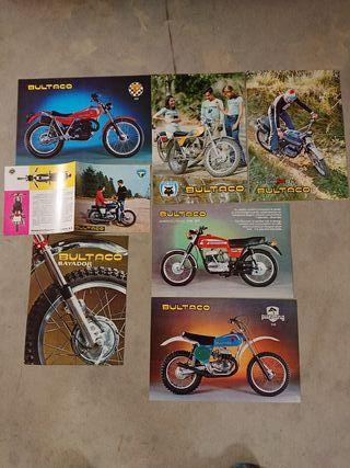 lote 7 catalogos originales BULTACO