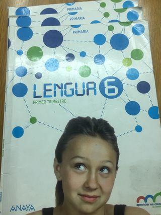 Libros lengua sexto primaria anaya