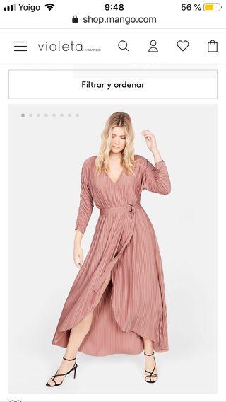 Vestido Violeta by Mango. Tallas grandes. Nuevo