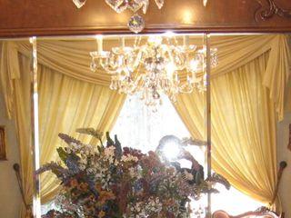 Cortinas para salón raso beige con faldón