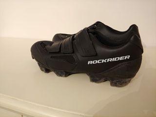 Zapatillas mtb rockrider negras