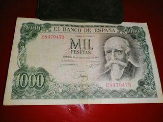 billete mil pesetas