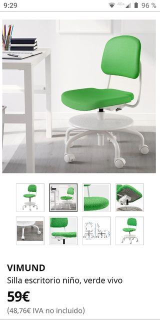 Silla escritorio niño Ikea Vimund