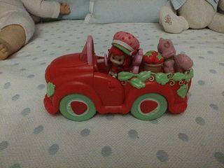 coche tarta de fresa