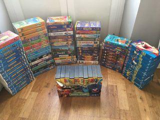 series para niños en cinta de video