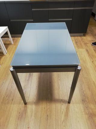 mesa cocina de cristal
