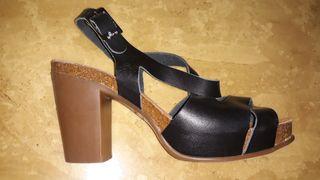 Sandalias negras, 38