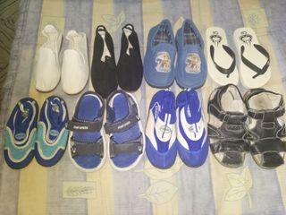 lote zapatillas y chanclas niño OFERTA