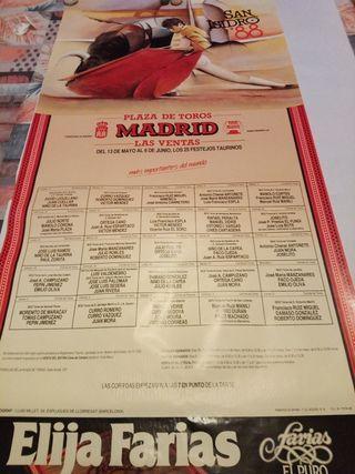 Cartel taurino Feria San Isidro 1988