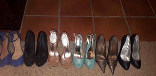 lote sandalias y zapatos tacon