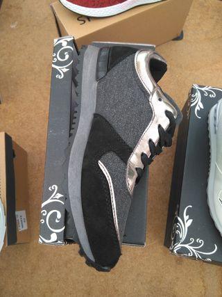 zapatillas negras tallas 36-41