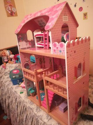 casita de muñecas de madera
