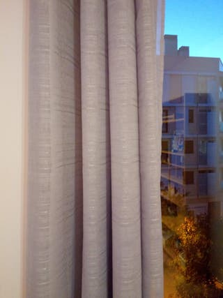 Set de 2 cortinas grises