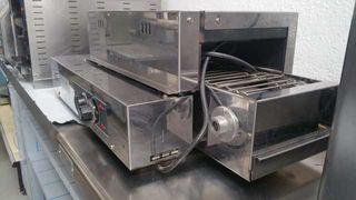 tunel Dosilet, cocina de gas, cortadora de fiambre