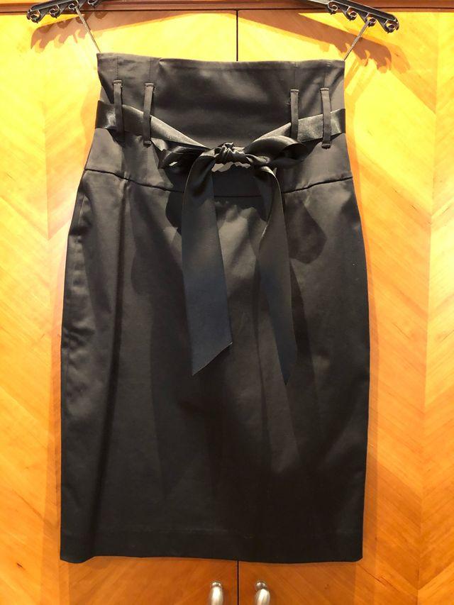 Falda alta de tubo negra Talla M de Mango
