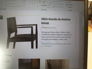 sillas y sillones mod Manila ANDREU WORLD