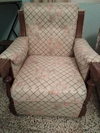 Sofa 3 plazas y sillón en tela lavable