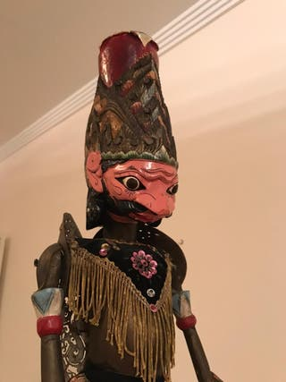 "2 Marionetas ""Wayang Golek"" de Indonesia"