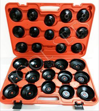 Juego cazoletas para filtros de aceite (30 piezas)