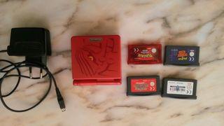 Nintendo GameBoy Advance SP Ed pokemon + juegos