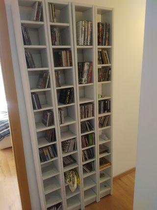 Estanterías para CDs y DVDs