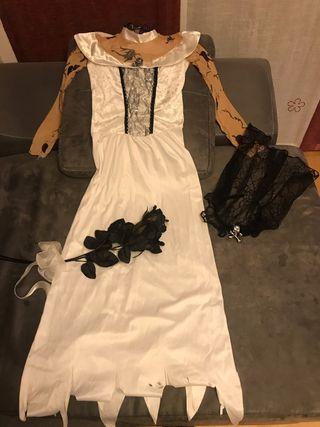 Disfraz niña hallowen novia cadaver