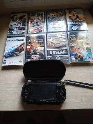 PSP 1 generación + 8 juegos