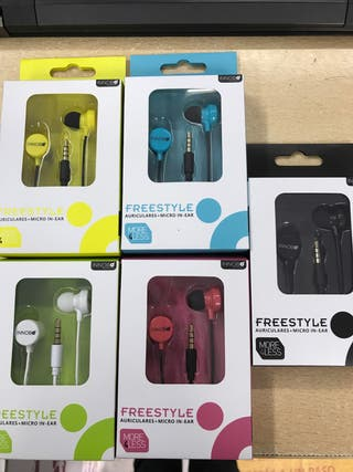 Auriculares+micro in-ear freestyle