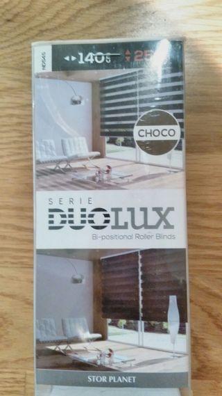 2 Estor día noche Duolux Choco 140x250