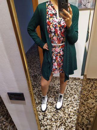 Cardigan verde Cortefiel