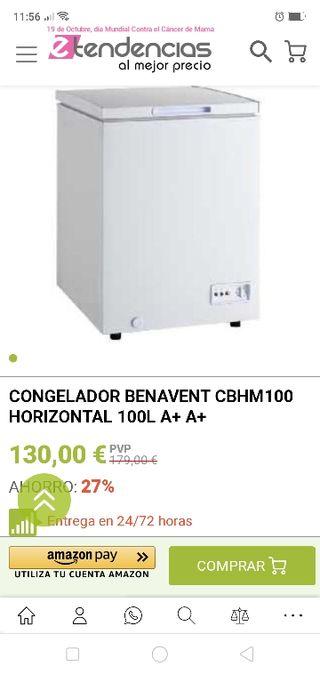 Congelador Benavent horizontal.