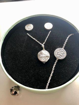 Conjunto Rubric Tous collar, pulsera y pendientes