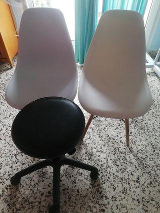 sillas y taburete se vende