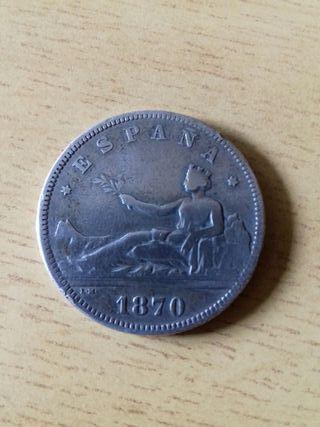 moneda 2 pesetas 1870-70