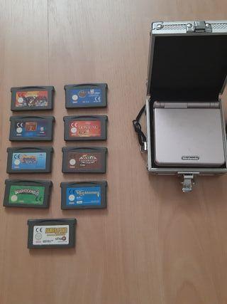 Nintendo Gameboy Advance SP + Juegos