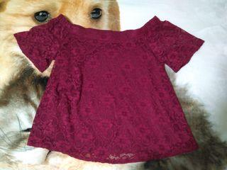 blusa granate floreada talla XL