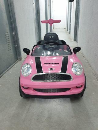mini Cooper rosa niña