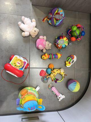 Lote juguetes bebés