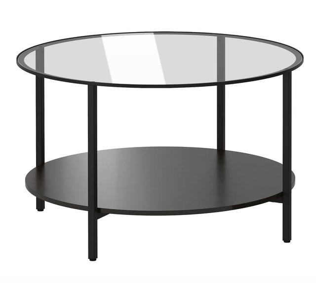 Mesa de centro IKEA cristal+negra